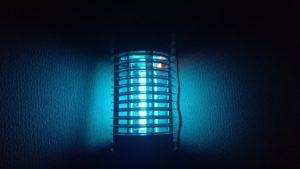 闇夜に煌めく青い灯火